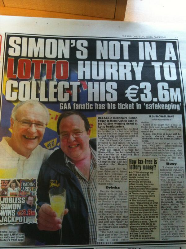 Simon is featured in today's Irish Daily Star, alongside LMFM presenter Gerry Kelly