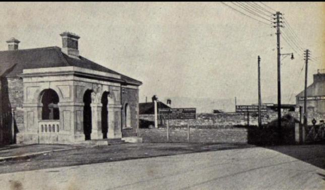 The old Quay Street train station