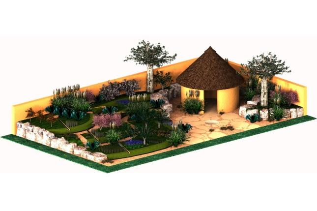 A 3D image of Paul's garden