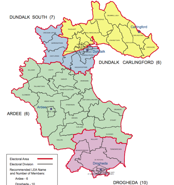 How Louth's electoral areas will look next year