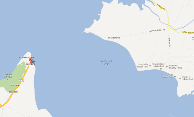 Greenore and Greencastle are just 1.1 miles apart by sea but 32 miles apart by road