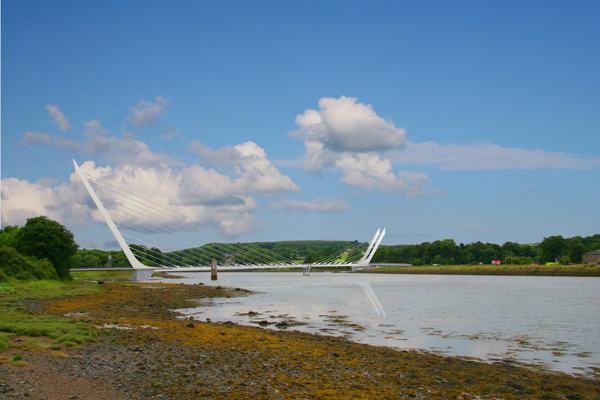 An artist's impression of the Narrow Water Bridge