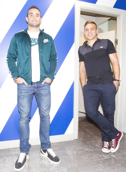 Dave Kearney in gear from Lifestyle Sports with fellow Style Ambassador Ian Madigan