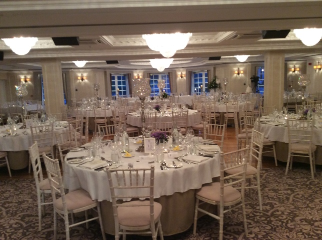 The Bute Suite set up for a wedding at Bellingham Castle last month