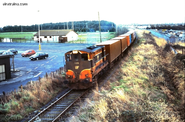 A train heading for the Barrack Street freight yard when trains used to go under the Hill Street Bridge