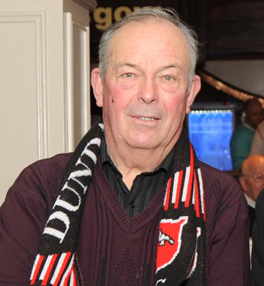 Stephanie's grandfather, well known Dundalk supporter Jim McCourt