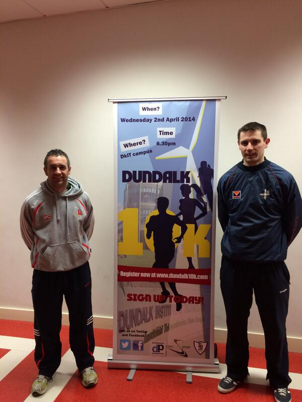 Louth hurlers Diarmuid Murphy and Shane Callan lend their support to the Dundalk 10k
