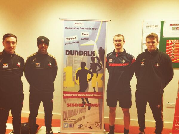Derek Maguire, John O'Brien, Paddy Keenan and Keith McLaughlin of the Louth senior team will be competing in the Dundalk 10k