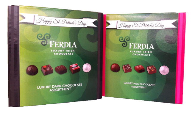 Ferdia's St Patrick's Day chocolates