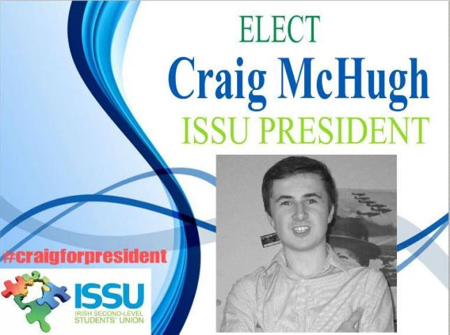 Craig McHugh's election poster