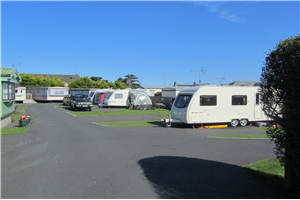 The caravan park at Gyles' Quay