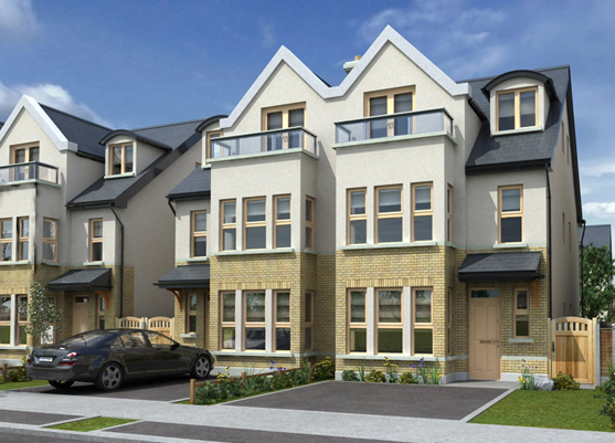 The four bed semi-detached homes at Stamanaran