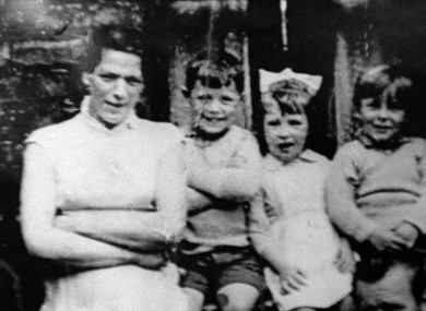 Jean McConville with some of her 10 children prior to her abduction