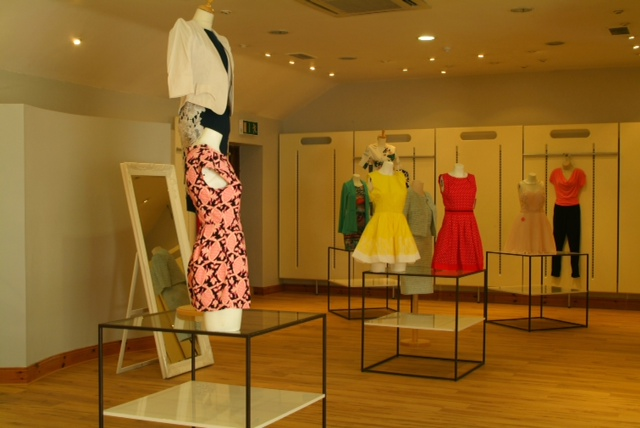 The display area on the first floor of Elmay Boutique