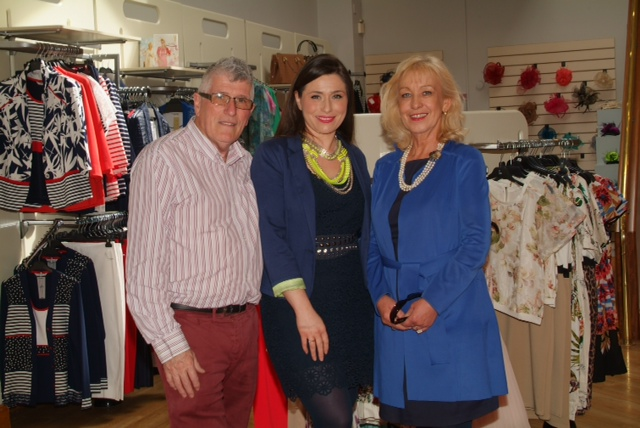 Laura Corry Proprietor (centre) with her father photographer Peter Hughes and her mother Bernedette Hughes, former proprietor of Bonnie & Clyde Boutique, Clanbrassil Street at last week's opening of Elmay Boutique