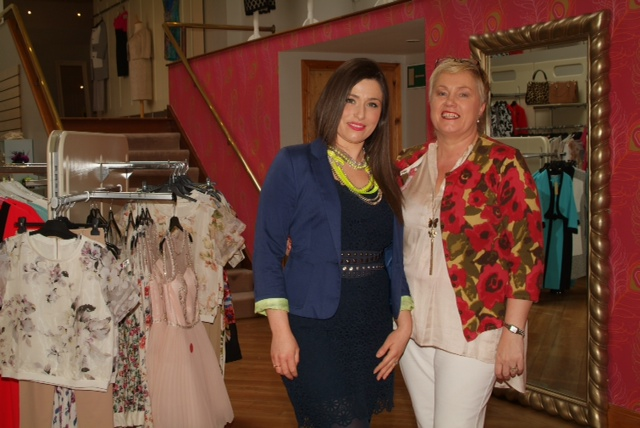 Laura Corry, proprietor of Elmay Boutique, with Siobhan Collins, sales assistant Elmay Boutique