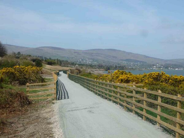 Part of the walkway/cyclepath linking Carlingford and Omeath which would form part of the planned route from Dundalk Bay to the ferry in Larne