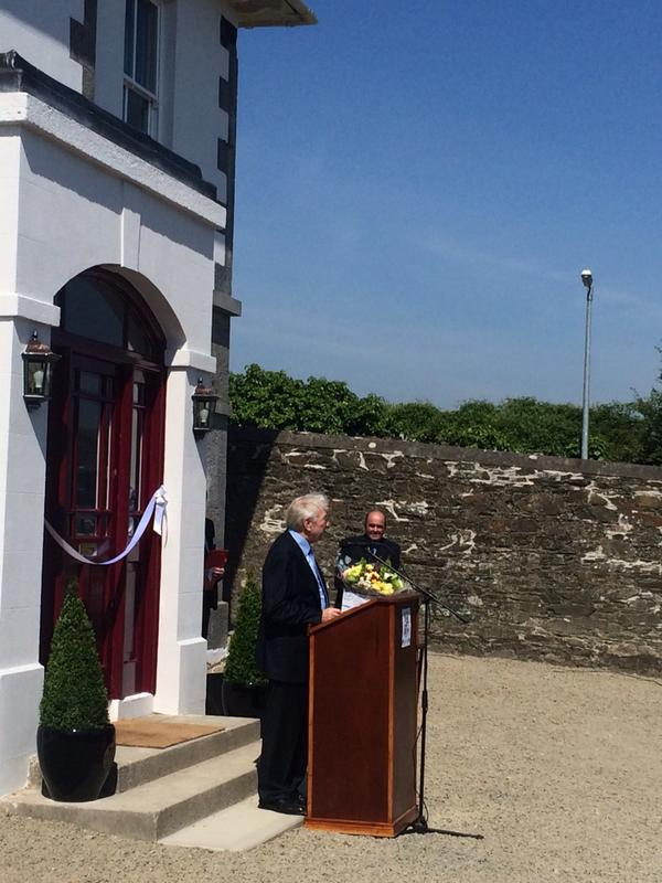 Martin Naughton speaking at the opening of the Market House Campus Project in Dunleer today