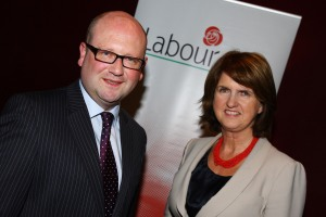 Ged Nash with Labour leader Joan Burton