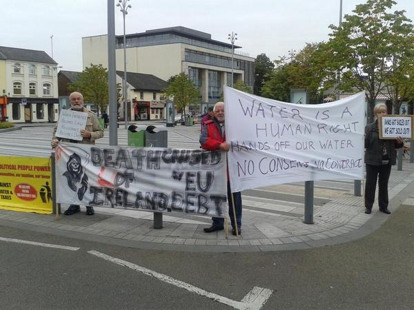The protest at the Market Square today, as captured by Pat O'Shaughnessy