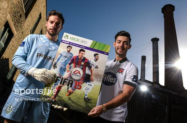 Barry Murphy and Richie Towell will appear on the cover of this year's FIFA 15 game