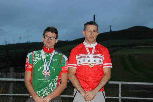 Nathan McGreehan and Tomas McCabe, second and first in the Louth Hill Climb Championships at the weekend