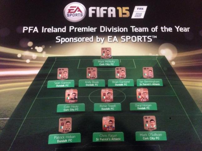 The PFAI Premier Division Team of the Year