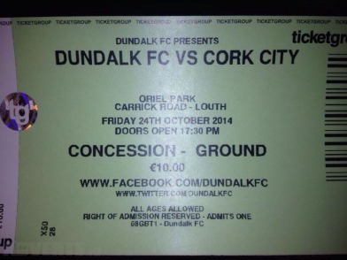 One of the coveted match tickets being sold for Friday's game