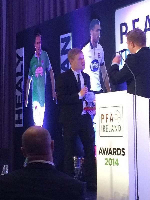 Daryl Horgan picked up his Young Player of the Year award on Friday night at the PFAI Awards
