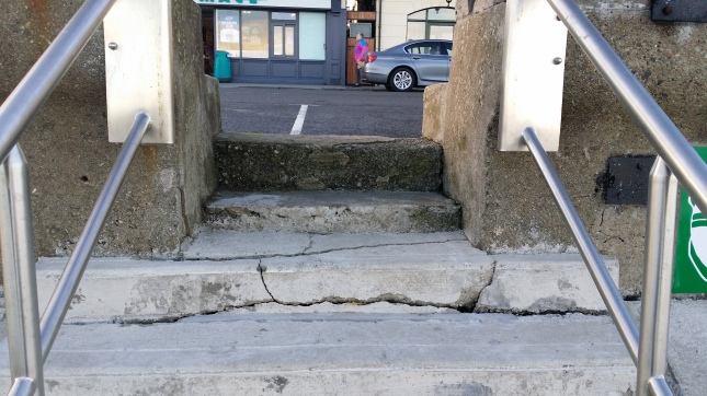 Cracks are already quite evident in the sea defences at Blackrock just a couple of months after the work was carried out