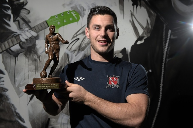 Pat Hoban will his Player of the Month award