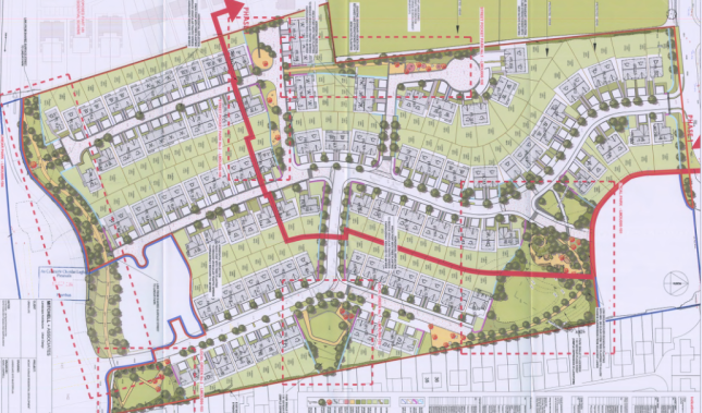 The proposed layout for the new estate