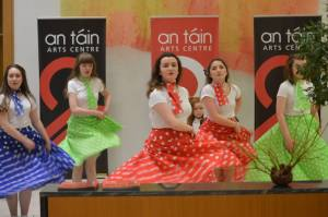 Members of the Dance Kids performing at the launch of the St Patrick's Day parade