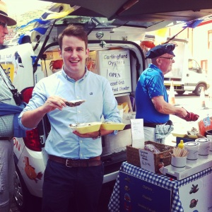 Cllr John McGahon at last year's Carlingford Oyster Festival
