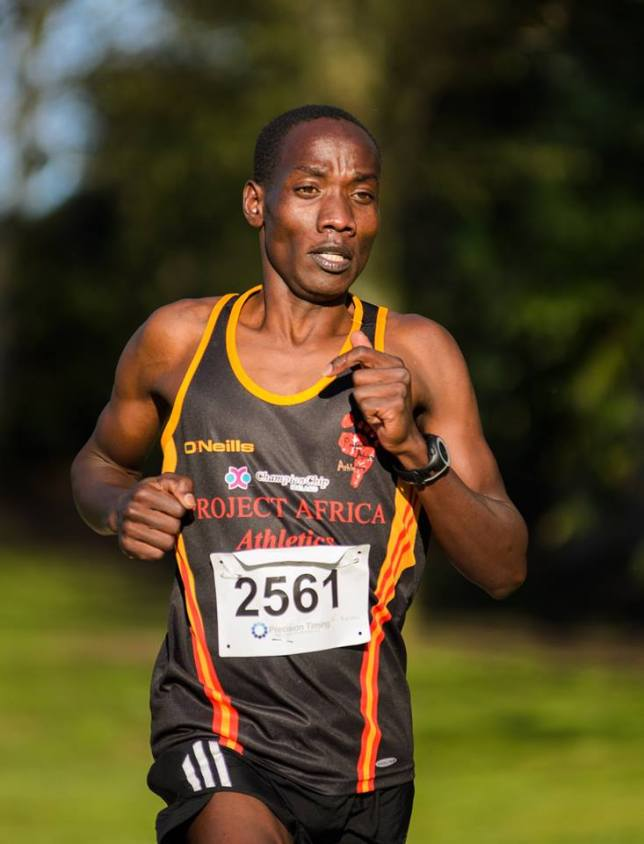 Gideon Kizmosop on the way to winning the Patsy Kelly 5k on Saturday. Picture: Paul O'Connor