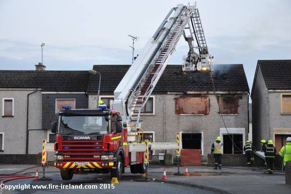 Five units of the fire service spent around four hours battling the blaze