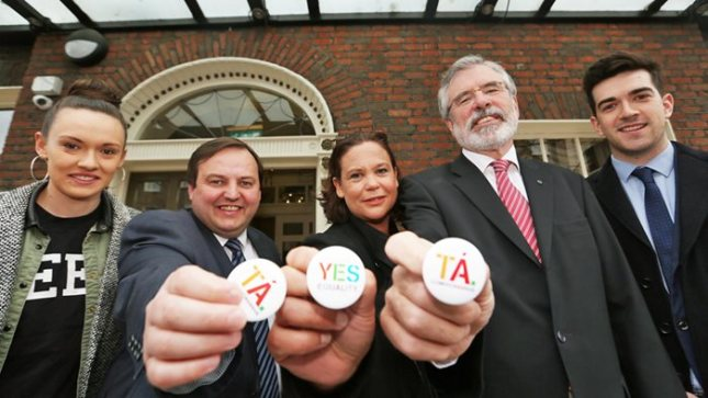Gerry Adams launching the 'Yes' campaign in Dublin earlier this week