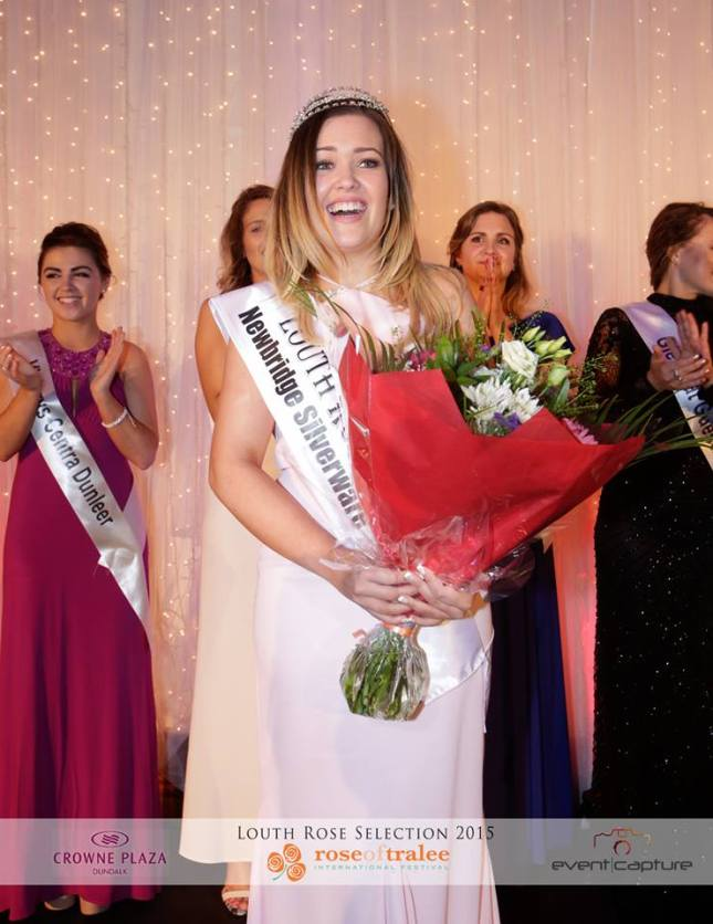 Jenny Hanlon after being named the new Louth Rose last night