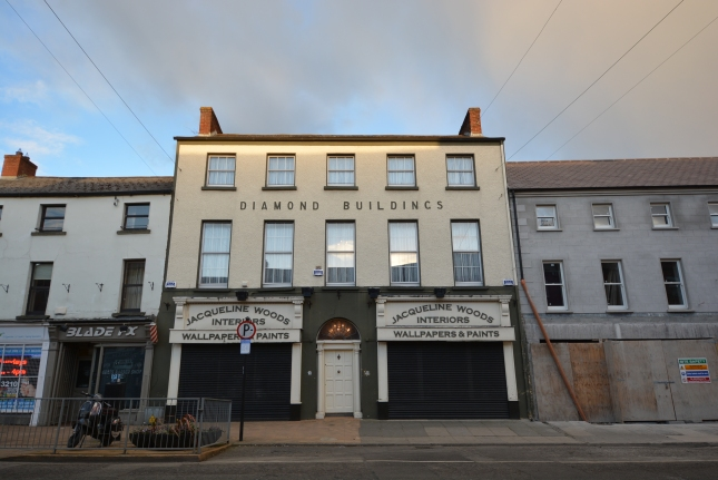 The front of The Diamond Buildings on Clanbrassil Street