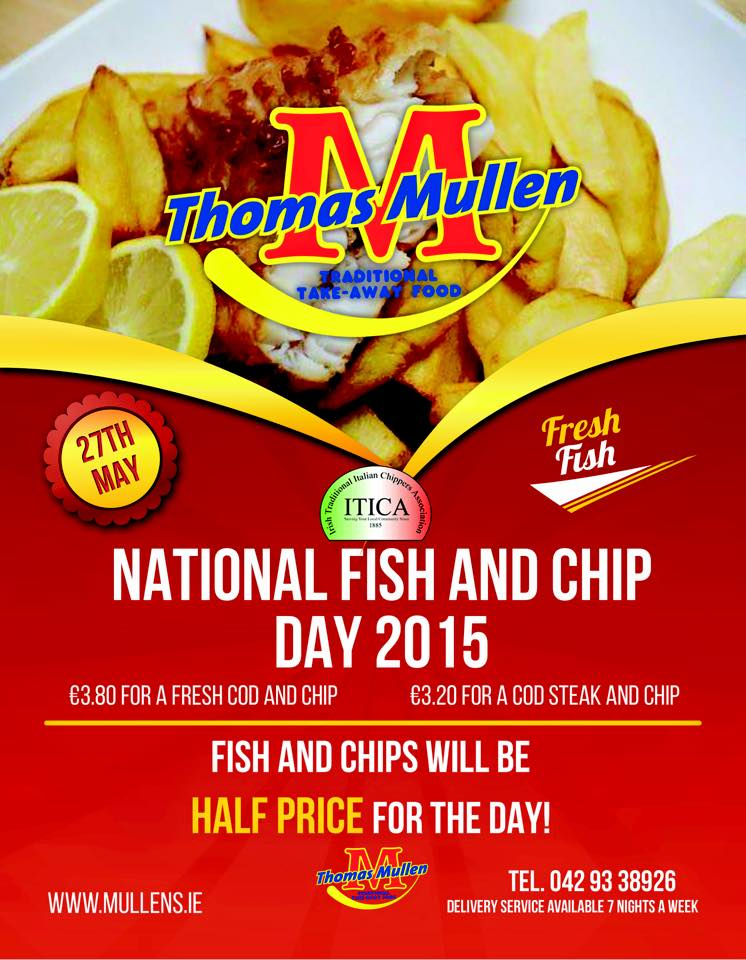 Half price fish and chips for national fish and chip day for Is tomorrow a good fishing day