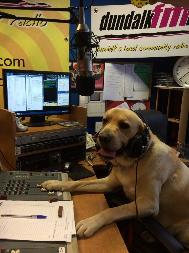 Spock at the Dundalk FM studios