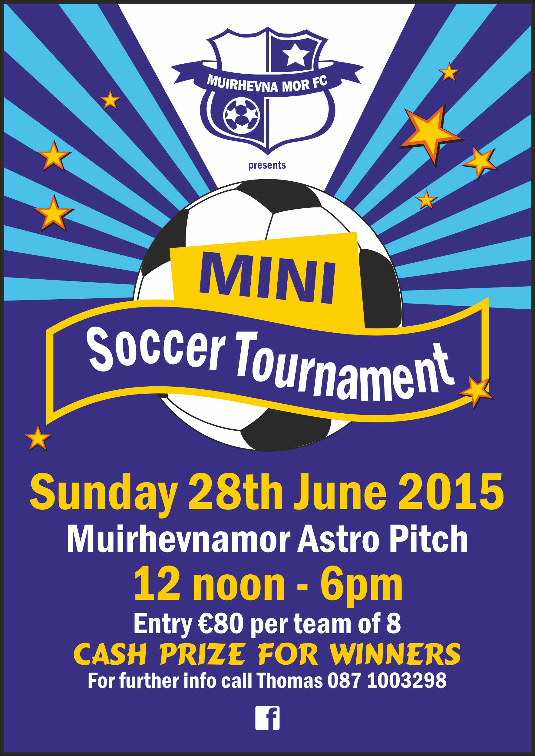Muirhevnamor FC To Host Mini Soccer Tournament This Sunday