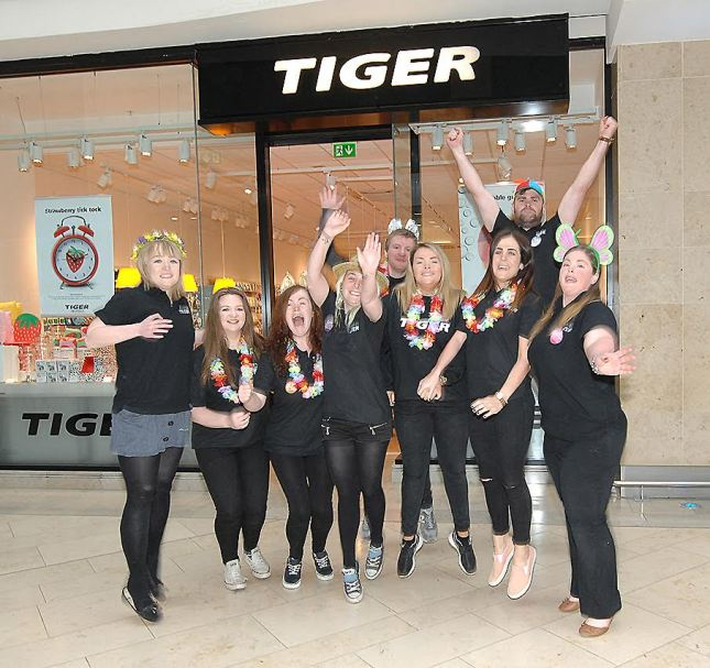 Staff at the opening of the Tiger store in the Marshes Shopping Centre back in June. Other big names are expected in the centre shortly. Picture: Arthur Kinahan