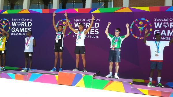James on the podium