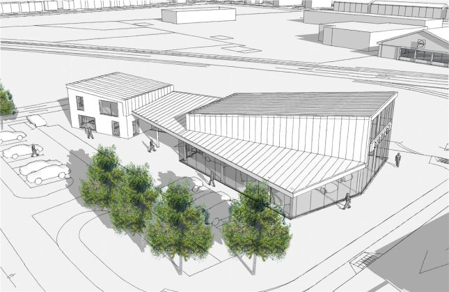An artist's impression of the car showroom which planning permission has been granted for on the site