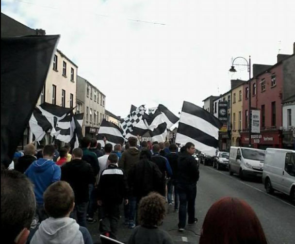 A previous corteo through Dundalk