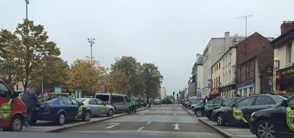 Some of the taxis at the Market Square this morning